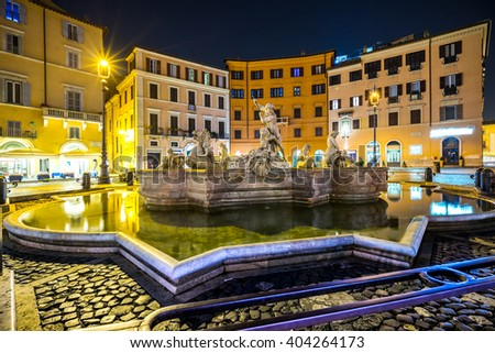 Rome, View of Piazza Navona. Italy. - stock photo