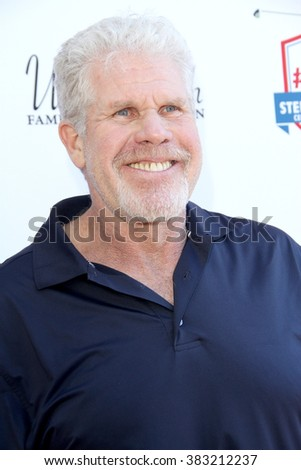 Ron Perlman arrives at the inaugural Stephen Bishop celebrity golf invitational benefiting R.A.K.E. on Feb. 15, 2016 at Calabasas Country Club in Calabasas, CA. - stock photo