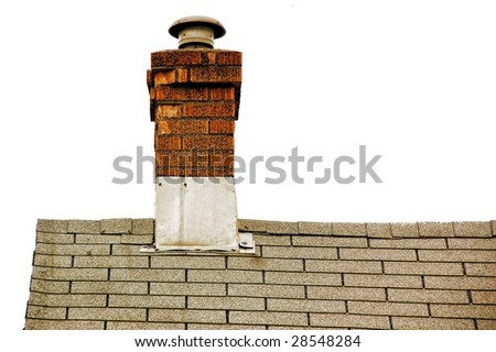 Roof and chimney - stock photo