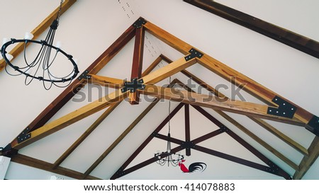 roof frame - stock photo