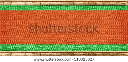 Roof of the Buddhist temple - background - stock photo