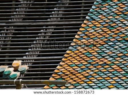Roof repair - stock photo