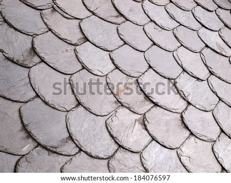 Roof slate background outdoors - stock photo