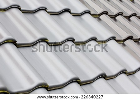 Roof tile.. - stock photo