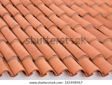 Roof tile background, close up - stock photo