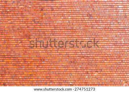 roof tiles background texture in regular rows - stock photo