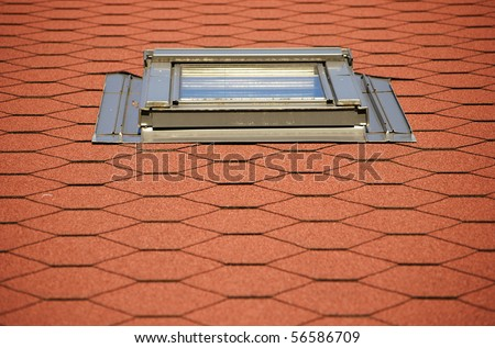 roof window and pattern - stock photo