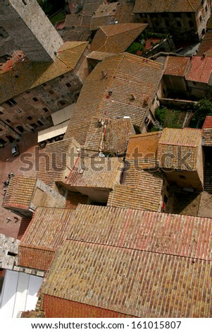 Roofs in Italy - stock photo