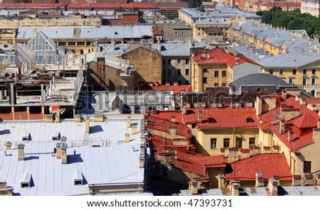 Roofs of Saint Petersburg - stock photo