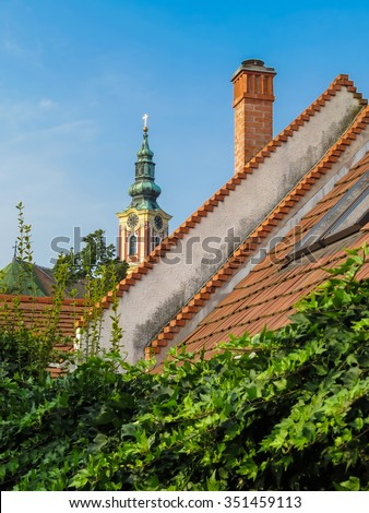 Roofs of the Szentendre, Hungary - stock photo