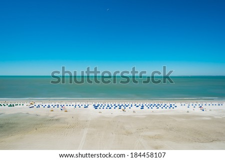 Rooftop beach view from a penthouse apartment in the Florida west coast. - stock photo
