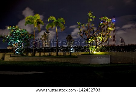 Rooftop garden - stock photo