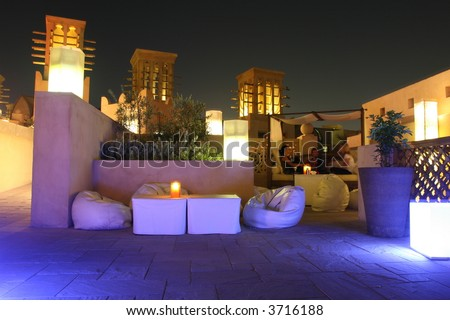 Rooftop Lounge - stock photo