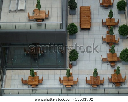 rooftop terrace in nyc manhattan - stock photo