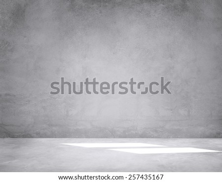 Room Concrete Wall Interior Wallpaper Concept - stock photo