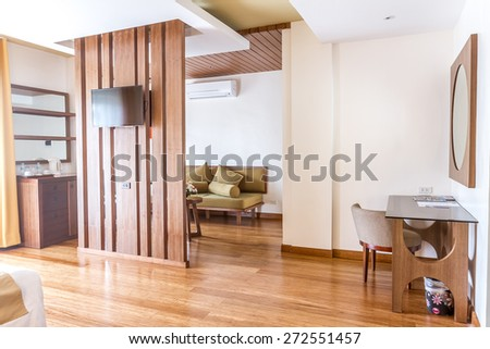room in a hotel - stock photo