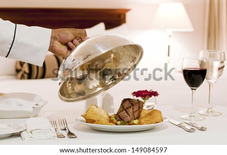 Room service - stock photo