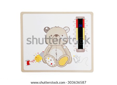 Room Thermometer Liquid crystal.   - stock photo
