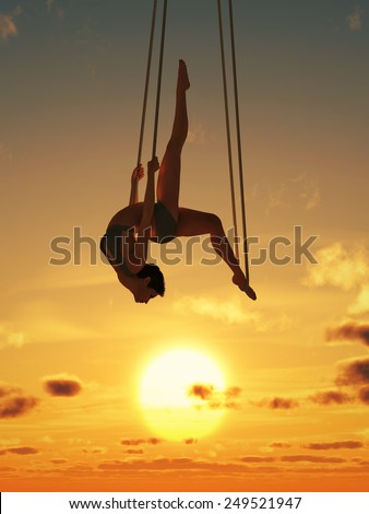 rope dancer - stock photo