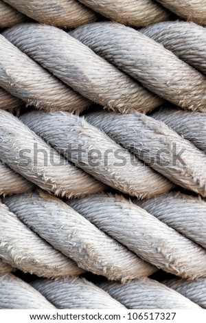 Rope detail, closeup. - stock photo