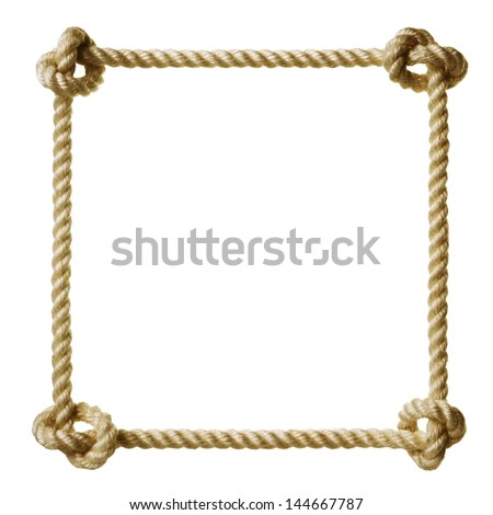 rope frame - stock photo