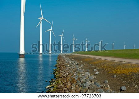 Rope in the water of a lake - stock photo