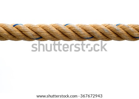 Rope is isolated on a white background - stock photo
