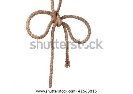 rope knot - stock photo