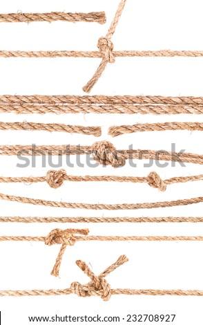 rope knot isolated on white background - stock photo
