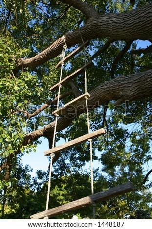 Rope Ladder - stock photo