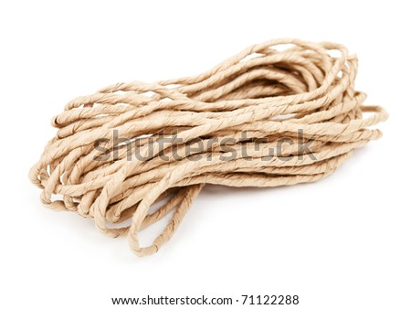 Rope on white background - stock photo