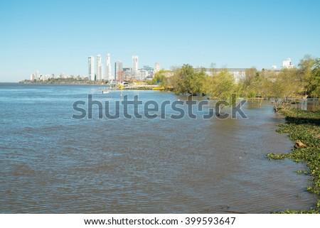 Rosario on the bank of Parana river, Argentina - stock photo