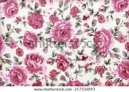 Rose bouquet design Seamless pattern on fabric as background - stock photo