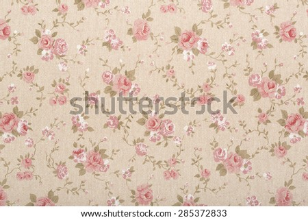 Rose floral tapestry pattern, romantic texture background - stock photo