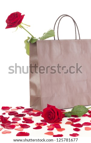 Rose in a bag - stock photo