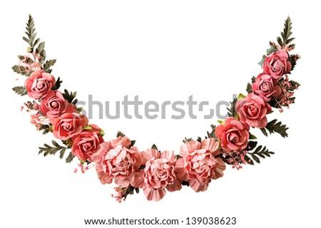 Rose paper - stock photo
