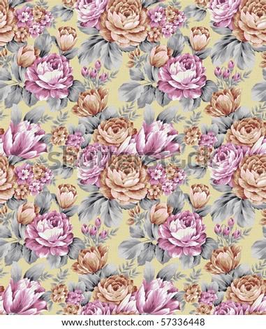 rose seamless pattern - stock photo