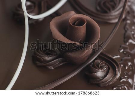 rose Shaped Chocolate - stock photo