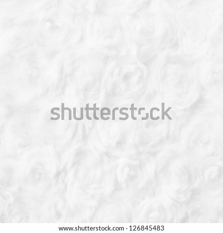 Rose Shaped Cotton Wool Texture, Background - stock photo
