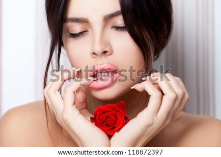 Rose temptation - stock photo
