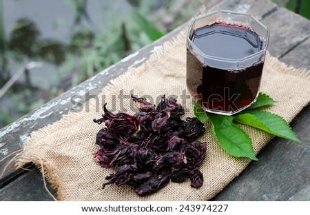 Roselle juice - stock photo
