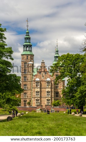 Rosenborg Castle in Copenhagen, Denmark - stock photo