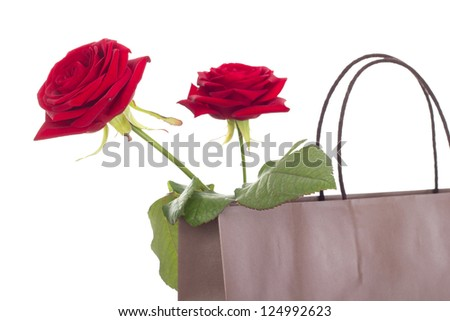 Roses in a bag - stock photo