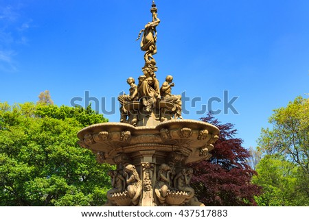 Ross fountain landmark in Pinces Street Gardens, Edinburgh Scotland, UK - stock photo