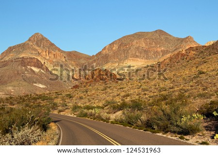 Ross Maxwell Scenic Drive, Big Bend National Park, Texas - stock photo