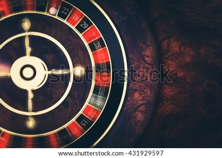 Rotating Roulette at Play. Playing Roulette in Casino Conceptual 3D Render Illustration. Las Vegas Gambling Concept. - stock photo