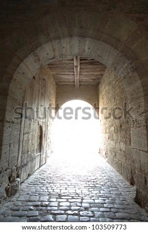 Rothenburg city gate - stock photo