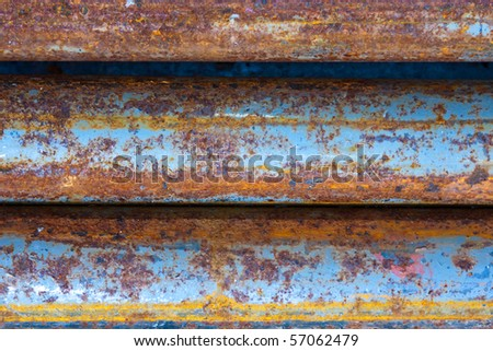 Rotten pipes. Can be used as a background - stock photo