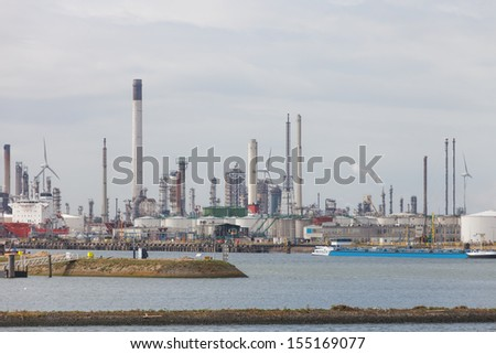 Rotterdam harbor, Nertherlands - stock photo