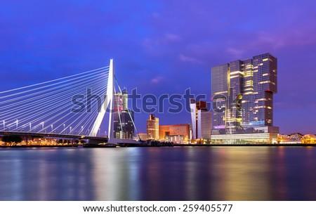 Rotterdam Skyline, The Netherlands - stock photo